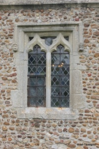 Eyeworth - All Saints. South aisle, western window.