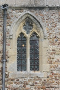 Eyeworth - All Saints. South aisle, eastern window.
