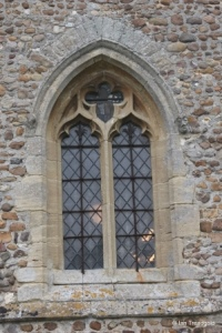 Eyeworth - All Saints. West window.