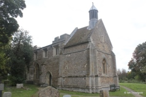 Eyeworth - All Saints. Tower from the north-west.