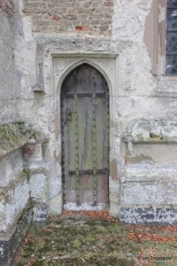 Eyeworth - All Saints. Chancel priest's door.