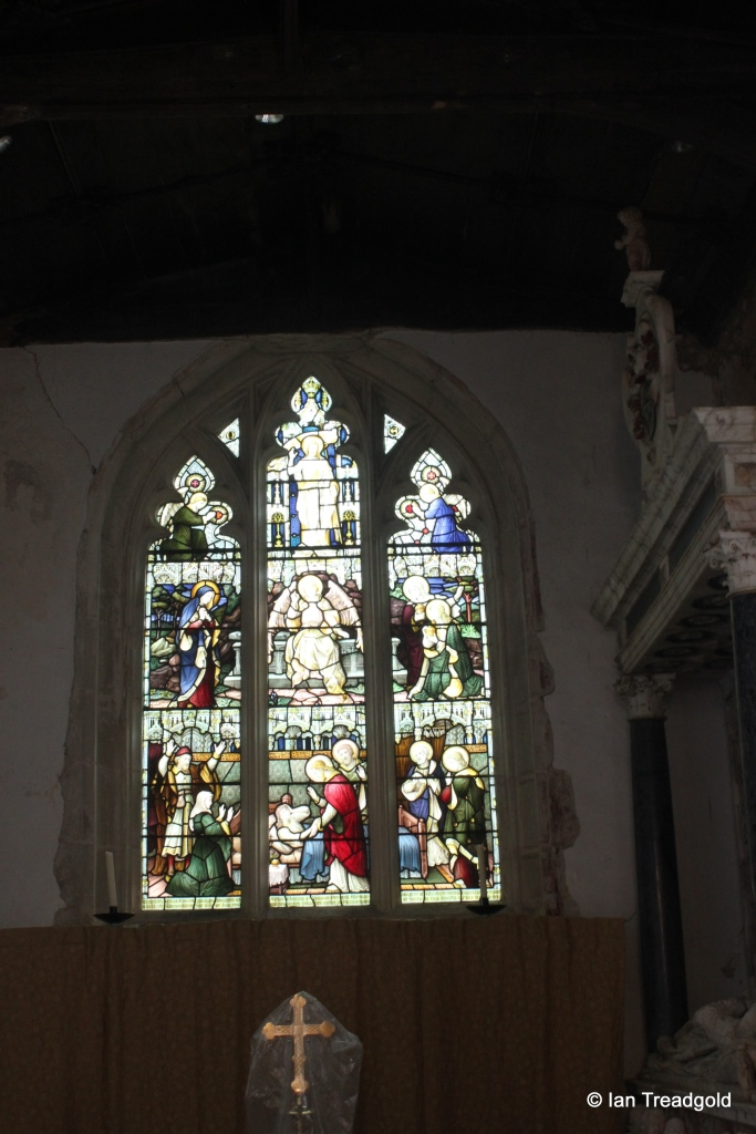 Eyeworth - All Saints. East window, internal.