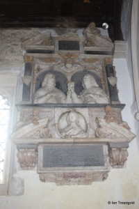 Eyeworth - All Saints. Chancel, monument to Edmund Anderson.