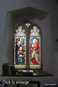 Everton - St Mary. Chancel north-west window internal.