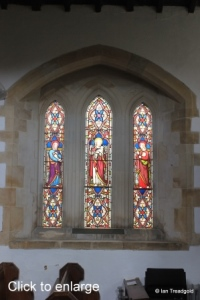 Everton - St Mary. North aisle eastern window internal.