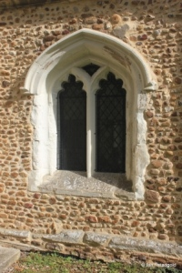 Edworth - St George. South porch west window.