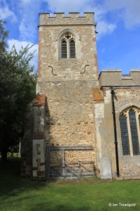 Edworth - St George. Tower from the south.