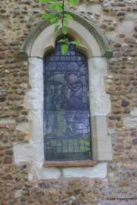 Edworth - St George. West window.