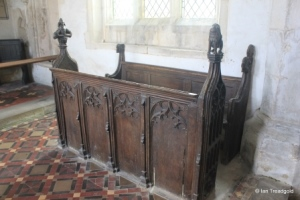 Edworth - St George. Chancel pews.