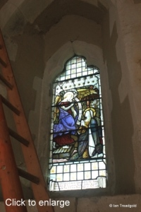 Edworth - St George. West window, internal.