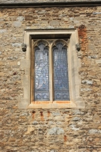 Elstow - St Mary and St Helena. South aisle, square head window.