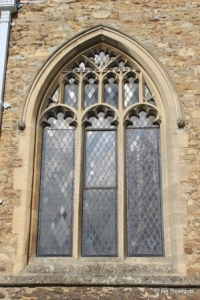 Elstow - St Mary and St Helena. South aisle, middle window.