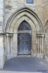 Elstow - St Mary and St Helena. North-west door.