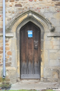 Eaton Socon - St Mary the Virgin. Chancel, priest's door.