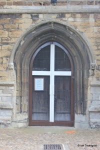 Eaton Socon - St Mary the Virgin. West door.