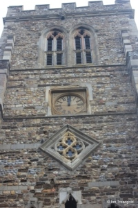 Eaton Socon - St Mary the Virgin. West tower clock.