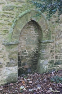 Farndish - St Michael and All Angels. Blocked north doorway.