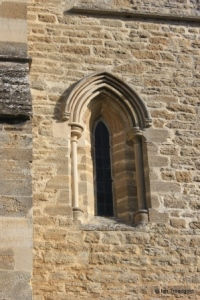 Felmersham - St Mary. South aisle, west window.