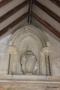 Felmersham - St Mary. South porch statue niche.